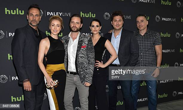 12 MONKEYS 'Syfy's 12 Monkeys Screening Panel at The Paley Center for Media' Pictured Todd Stashwick Amanda Schull Aaron Stanford Emily Hampshire...