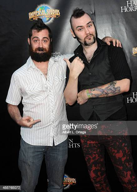 SyFy's 'Face Off' Season 7 contestants George Troester III and Cig Neutron arrive for Universal Studios Hollywood 'Halloween Horror Nights' Kick Off...