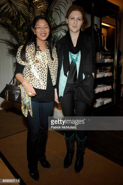 Syl Tang and Inga Vafceskovh attend FACONNABLE VANITY FAIR Shopping Night for the Christopher Reeve Dana Reeve Foundation at Faconnable Store on...