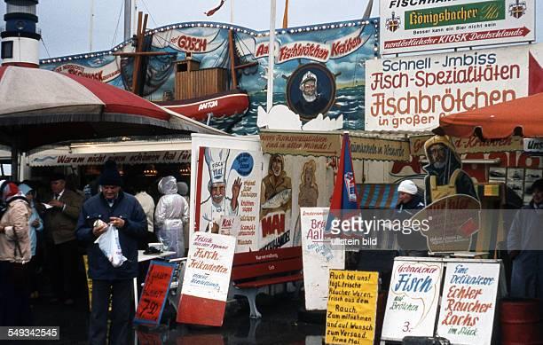 GER Sylt List Gosch Fischbrötchen Kiosk nordöstlichster Kiosk Deutschlands vermutlich 80er oder 90er Jahre
