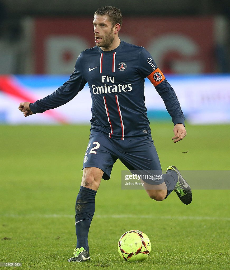 Sylvain Armand of PSG in action during the French Ligue 1 match between Paris Saint Germain FC and Sporting Club de Bastia at the Parc des Princes stadium on February 8, 2013 in Paris, France.