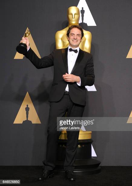 Sylvain Bellemare poses in the press room at the 89th annual Academy Awards at Hollywood Highland Center on February 26 2017 in Hollywood California