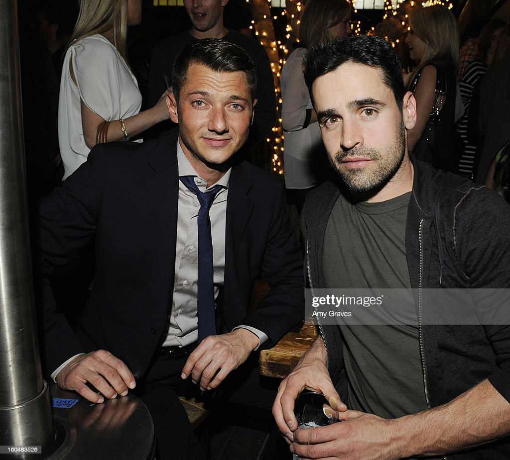 Sylvain Bitton and <a gi-track='captionPersonalityLinkClicked' href=/galleries/search?phrase=Jesse+Bradford&family=editorial&specificpeople=202829 ng-click='$event.stopPropagation()'>Jesse Bradford</a> attend the Aventine Restaurant Grand Opening on January 31, 2013 in Hollywood, California.