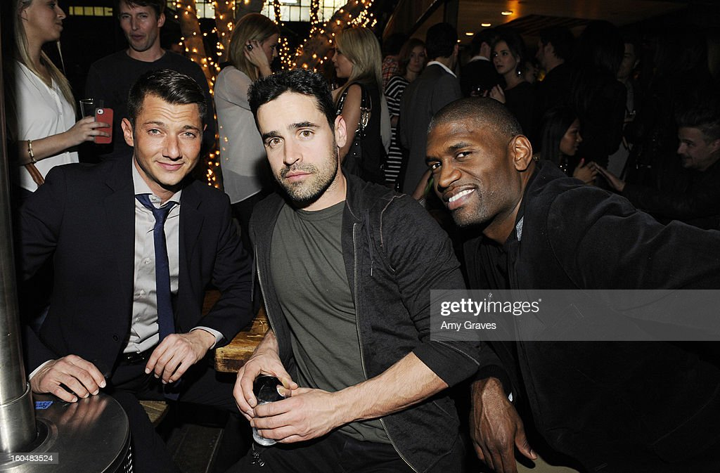 Sylvain Bitton, <a gi-track='captionPersonalityLinkClicked' href=/galleries/search?phrase=Jesse+Bradford&family=editorial&specificpeople=202829 ng-click='$event.stopPropagation()'>Jesse Bradford</a> and Brian Washington attend the Aventine Restaurant Grand Opening on January 31, 2013 in Hollywood, California.