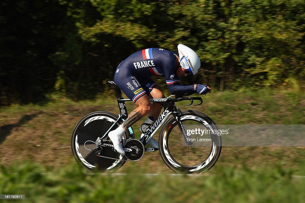 Sylvain Chavanel of France in action in the Elite Men's Time Trial, from Montecatini Terme to Florence on day four of the UCI World Championships on September 25, 2013 in Florence, Italy.
