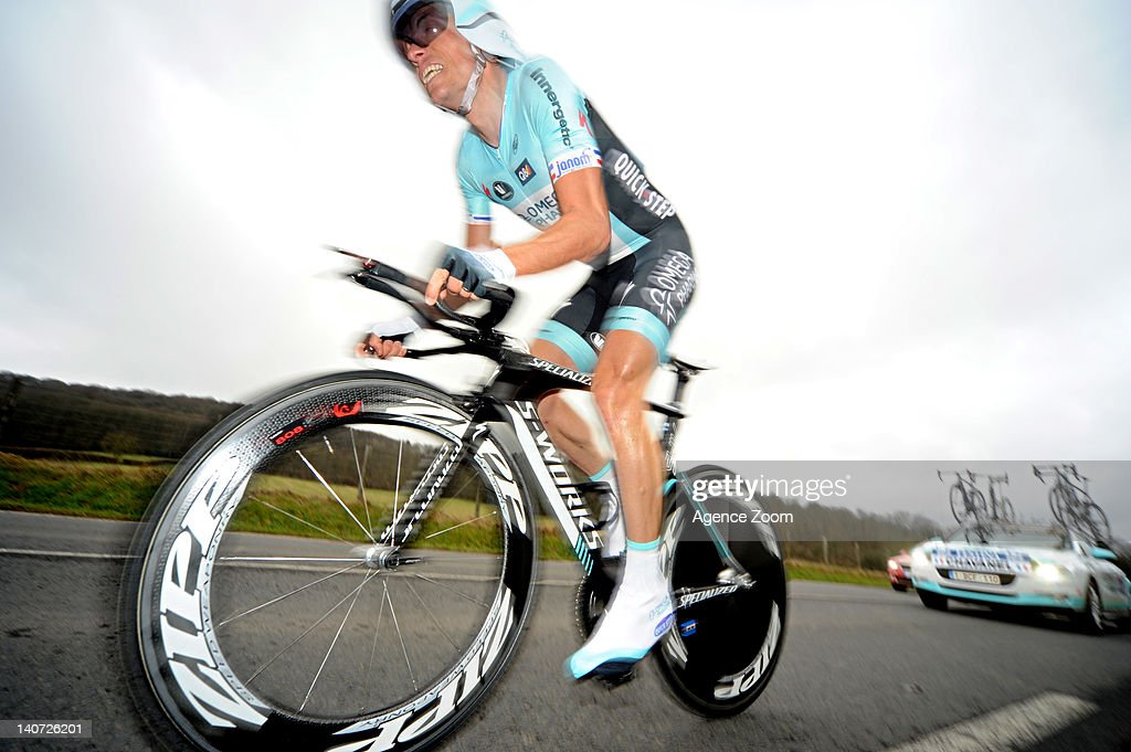<a gi-track='captionPersonalityLinkClicked' href=/galleries/search?phrase=Sylvain+Chavanel&family=editorial&specificpeople=547829 ng-click='$event.stopPropagation()'>Sylvain Chavanel</a> of Team Omega Pharma Quickstep during Stage 1 of the Paris-Nice Cycle Race on March 04 2012, Dampierre, France.