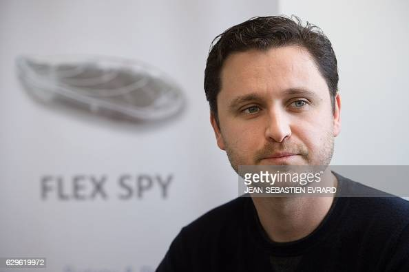 Sylvain Dardenne commercial director of the FlexSense company poses on December 12 2016 in La Rochesuryon western France FlexSense has created an...