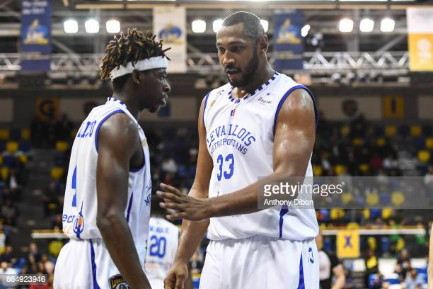 Sylvain Francisco and Boris Diaw of Levallois during the Pro A match between Levallois Metropolitans and Boulazac at Salle Marcel Cerdan on October...