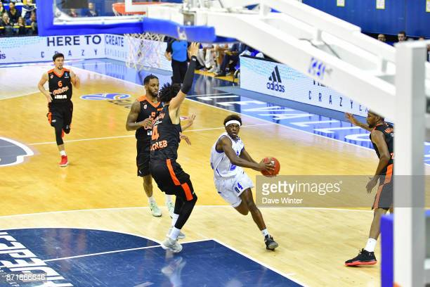 Sylvain Francisco of Levallois during the EuropCup match between Levallois Metropolitans and Cedevita Zagreb at Salle Marcel Cerdan on November 8...
