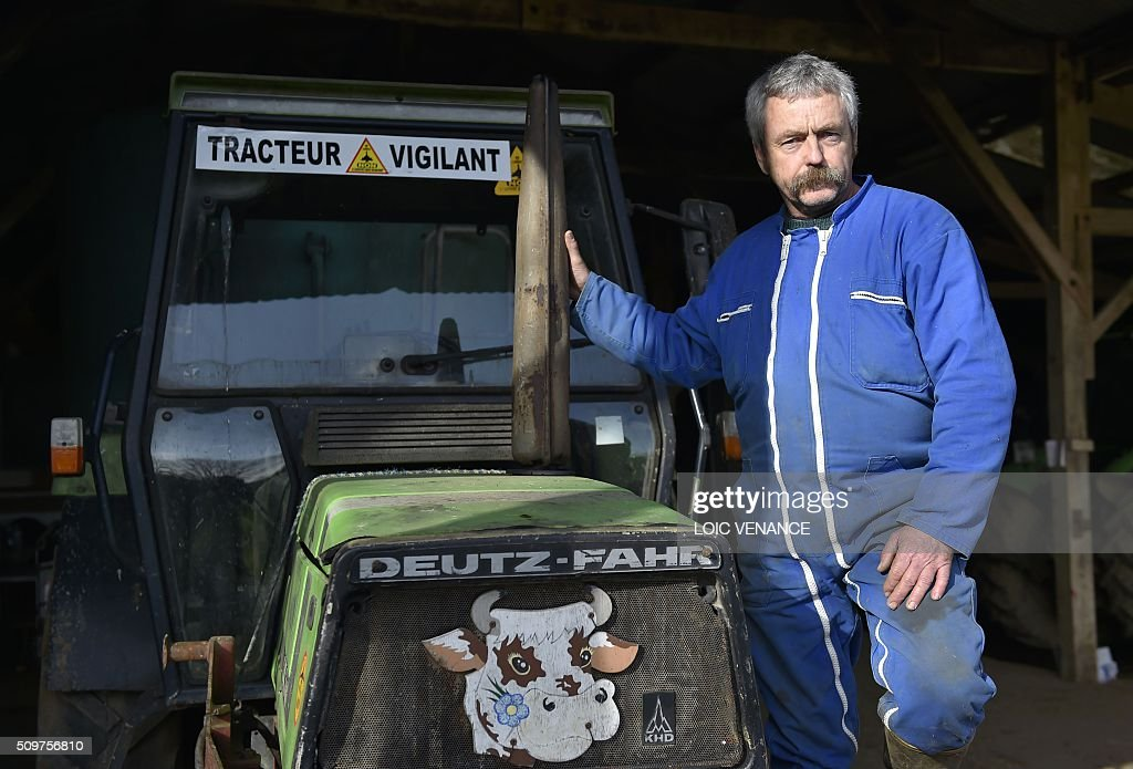 Sylvain Fresneau, member of a family threatened with expulsion from the Notre-Dame-des-Landes area, where the future Nantes international airport is to be built, poses in La Vacherit, a barn of his farm dedicated to the fight against the airport, on February 12, 2016, in Notre-Dame-des-Landes. President Francois Hollande announced on February 11, 2016 the organization of a referendum on the continuation of a project to build an airport at Notre-Dame-des-Landes, hours after former patron of EELV Emmanuelle Cosse joined the government as housing minister. / AFP / LOIC VENANCE