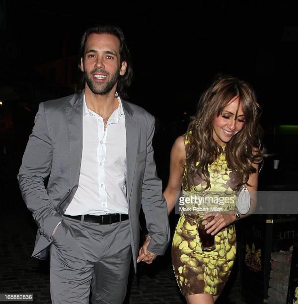 Sylvain Longchambon and Samia Ghadie at Gilgamesh restaurant on April 6 2013 in London England