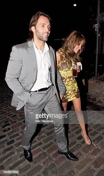 Sylvain Longchambon and Samia Ghadie sighting at Gilgamesh restaurant on April 6 2013 in London England