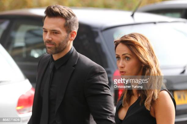 Sylvain Longchambon and Samia Longchambon arrivesat Salford Cathedral on October 6 2017 in Salford England Actress Liz Dawn who died aged 77 played...
