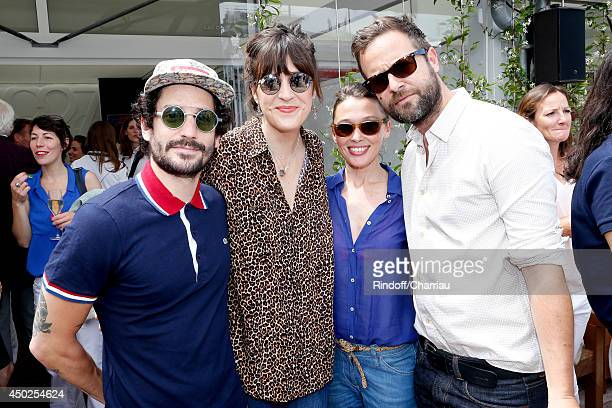 Presenter Daphne Burki with husband Valentin actress Anne Marivin and guest attend the Roland Garros French Tennis Open 2014 Day 14 on June 7 2014 in...
