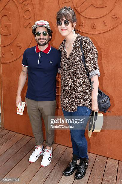 Presenter Daphne Burki and husband Valentin attend the Roland Garros French Tennis Open 2014 Day 14 on June 7 2014 in Paris France