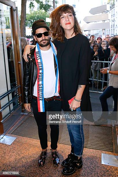 Sylvain Quimene and Daphne Burki attend the last Jean Paul Gaultier Womenswear show as part of the Paris Fashion Week Womenswear Spring/Summer 2015...