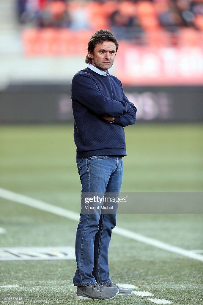 Sylvain Ripoll coach of Lorient during the French Ligue 1 match between Fc Lorient and Lille OSC at Stade du Moustoir on April 30 2016 in Lorient...