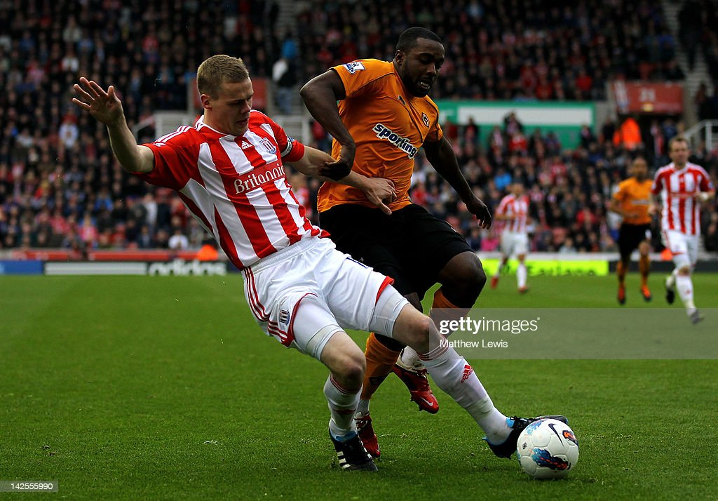 <a gi-track='captionPersonalityLinkClicked' href=/galleries/search?phrase=Sylvan+Ebanks-Blake&family=editorial&specificpeople=2192875 ng-click='$event.stopPropagation()'>Sylvan Ebanks-Blake</a> of Wolverhampton Wanderers is challenged by <a gi-track='captionPersonalityLinkClicked' href=/galleries/search?phrase=Ryan+Shawcross&family=editorial&specificpeople=4443278 ng-click='$event.stopPropagation()'>Ryan Shawcross</a> of Stoke City during the Barclays Premier League match between Stoke City and Wolverhampton Wanderers at the Britannia Stadium on April 7, 2012 in Stoke on Trent, England.