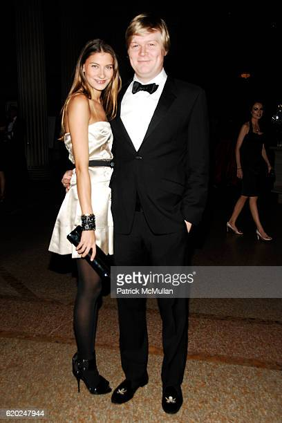 Sylvana SotoWard and Adam Durrett attend CAROLINA HERRERA 'Gilded Pleasure' APOLLO CIRCLE Benefit at The Metropolitan Museum of Art on November 12...