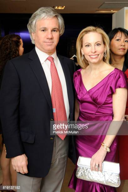 Sylvester Miniter and Gillian Miniter attend Akris Hosts New Yorkers For Children Spring Dinner Dance KickOff at Akris Boutique on March 16 2010 in...