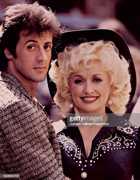 Sylvester Stallone and Dolly Parton costar in the film 'Rhinestone' 1984