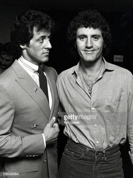Sylvester Stallone and Frank Stallone during Sylvester Stallone's 36th Birthday at The Tropicana in Atlantic City New Jersey United States