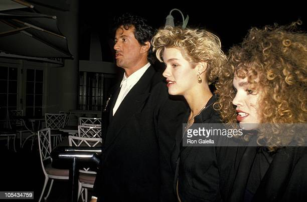 Sylvester Stallone and guests during Sugar Ray Leonard Vs Donny LaLonde Boxing Match November 7 1988 at Caesar's Palace in Las Vegas Nevada United...