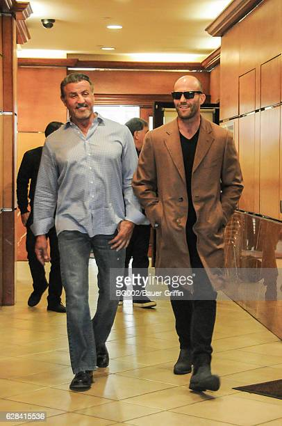 Sylvester Stallone and Jason Statham are seen on December 07 2016 in Los Angeles California