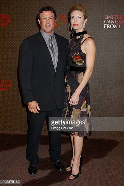 Sylvester Stallone and Jennifer Flavin during The Louis Vuitton United Cancer Front Gala at Universal Studios in Universal City California United...