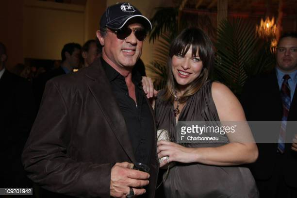 Sylvester Stallone and Milla Jovovich at the World Premiere of Screen Gems 'Resident Evil Extinction' at Planet Hollywood Resort and Casino on...