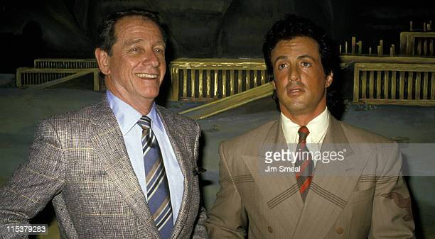 Sylvester Stallone And Richard Crenna during Richard Crenna Honored with a Star on the Hollywood Walk of Fame for His Achievements in Film at...