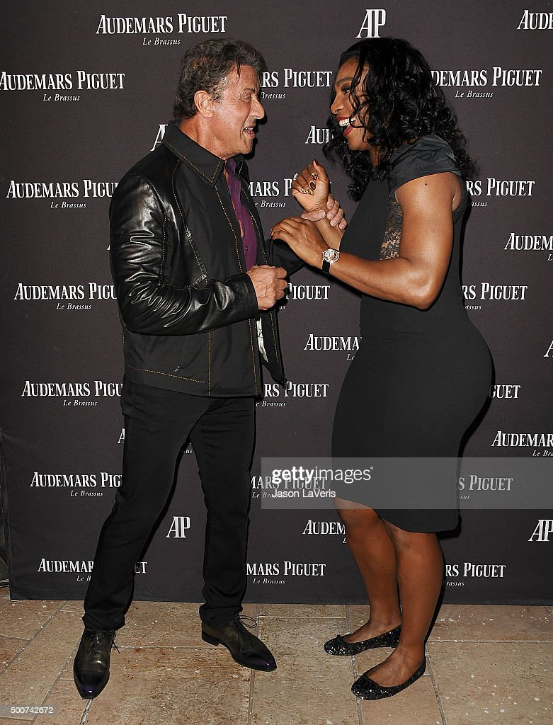 ¿Cuánto mide Sylvester Stallone? - Real height Sylvester-stallone-and-serena-williams-attend-the-grand-opening-of-picture-id500742672