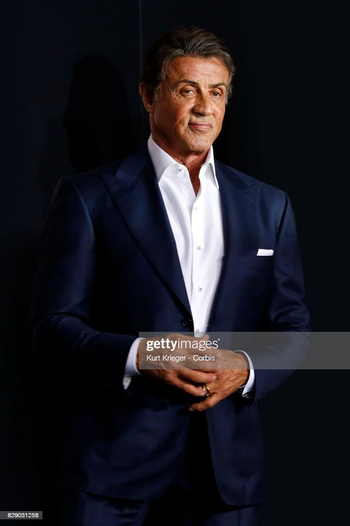 Image has been digitally retouched.) Sylvester Stallone arrives at the 'Creed' world premiere in Los Angeles, California on November 19, 2015.