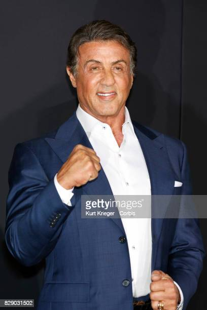 Image has been digitally retouched Sylvester Stallone arrives at the 'Creed' world premiere in Los Angeles California on November 19 2015