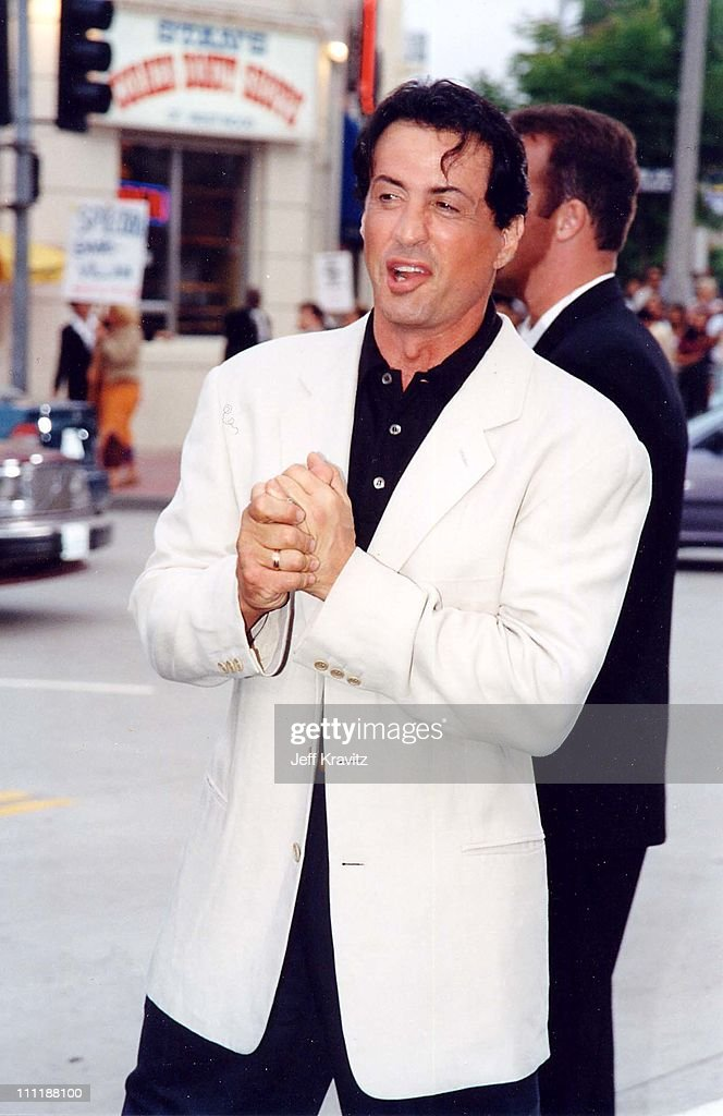 Sylvester Stallone at the 1998 premiere of Saving Private Ryan in Westwood.