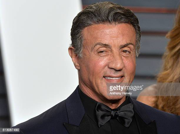 Sylvester Stallone attends the 2016 Vanity Fair Oscar Party hosted By Graydon Carter at Wallis Annenberg Center for the Performing Arts on February...
