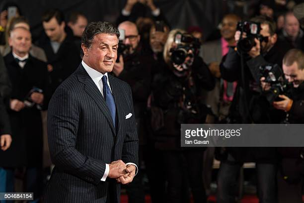 Sylvester Stallone attends the European Premiere of 'Creed' at the Empire cinema Leicester Square on January 12 2016 in London England