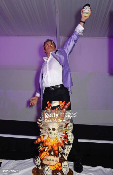 Sylvester Stallone attends 'The Expendables 3' private dinner and party at Gotha Night Club at Palm Beach on May 18 2014 in Cannes France