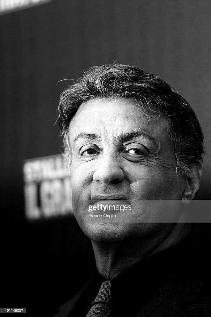 <a gi-track='captionPersonalityLinkClicked' href=/galleries/search?phrase=Sylvester+Stallone&family=editorial&specificpeople=202604 ng-click='$event.stopPropagation()'>Sylvester Stallone</a> attends the 'Grudge Match' Rome photocall on January 7, 2014 in Rome, Italy.