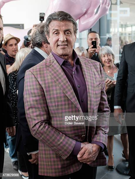 Sylvester Stallone attends the opening of his art exhibition entitled 'Real Love' at the Contemporary Gallery at Mamac Museum on May 16 2015 in Nice...