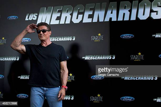 Sylvester Stallone attends the Premiere of 'The Expendables 3' on August 5 2014 in Malaga Spain