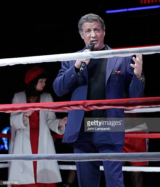 Sylvester Stallone attends the 'Rocky' Broadway Cast Press Preview at Winter Garden Theater on February 13 2014 in New York City