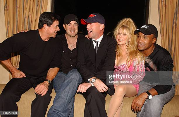 Sylvester Stallone Carson Daly Bruce Willis Charo and Sugar Ray Leonard