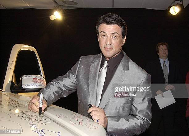 Sylvester Stallone during The 9th Annual Race to Erase MS CoChaired by Nancy Davis Tommy HilfigerSilent Auction at The Century Plaza Hotel in Century...