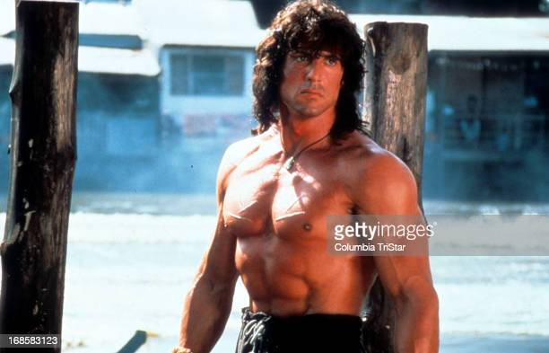 Sylvester Stallone in a scene from the film 'Rambo III' 1988