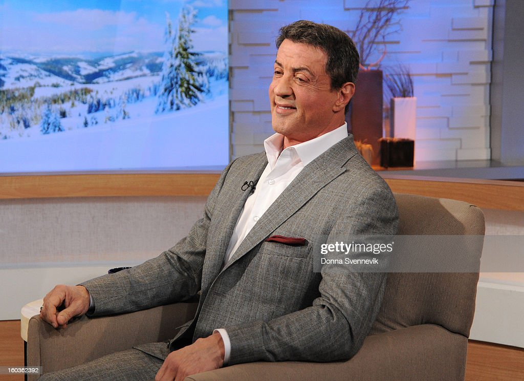 AMERICA - Sylvester Stallone is a guest on 'Good Morning America,' 1/29/13, airing on the ABC Television Network. (Photo by Donna Svennevik/ABC via Getty Images) SYLVESTER STALLONE