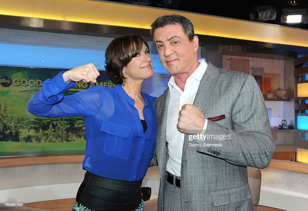 AMERICA - Sylvester Stallone is a guest on 'Good Morning America,' 1/29/13, airing on the ABC Television Network. (Photo by Donna Svennevik/ABC via Getty Images) ELIZABETH