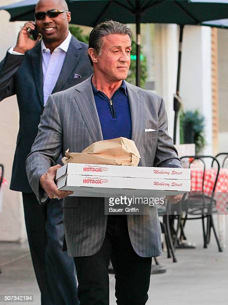 Sylvester Stallone is seen on January 28 2016 in Los Angeles California