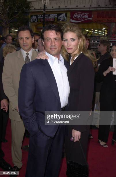 Sylvester Stallone Jennifer Flavin during Driven Premiere at Chinese Theater in Hollywood California United States