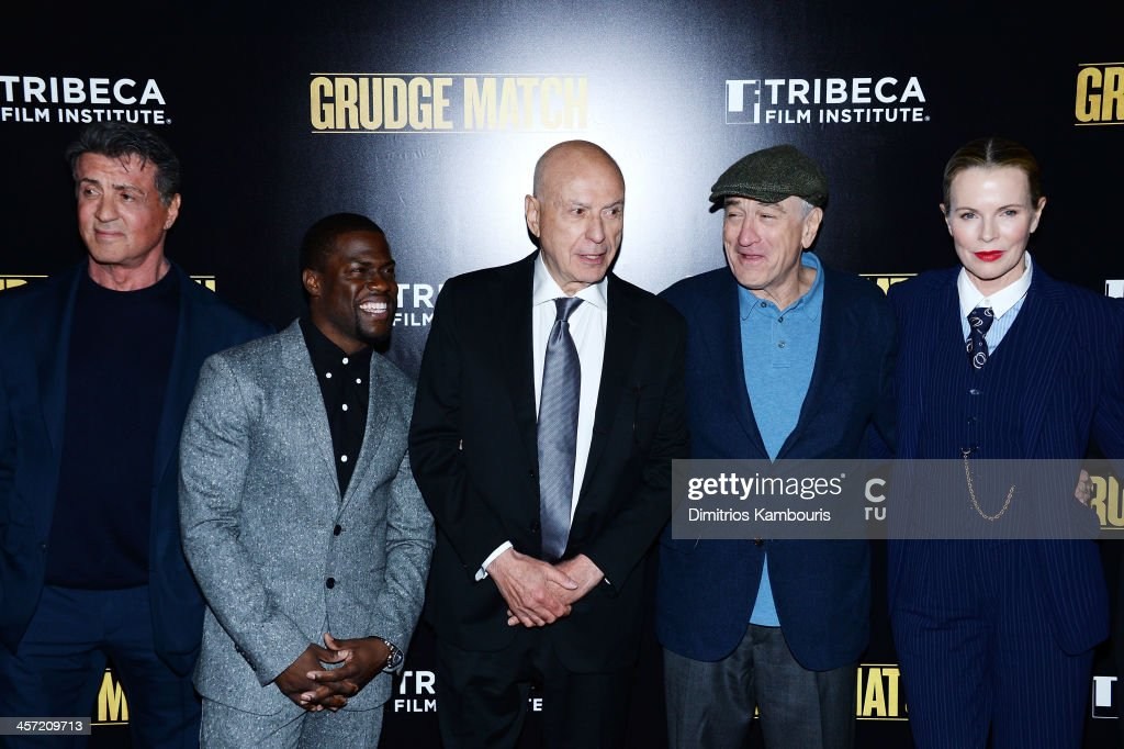 Sylvester Stallone Kevin Hart Alan Arkin Robert De Niro and Kim Basinger attend the 'Grudge Match' screening benefiting the Tribeca Film Insititute...